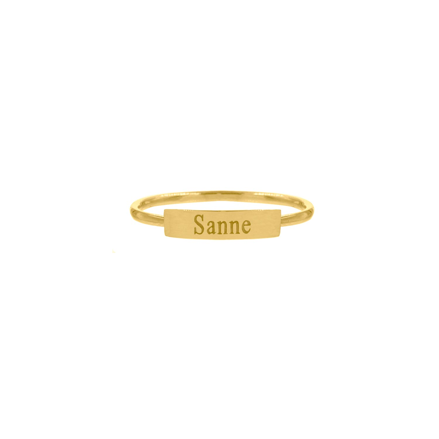 Graveerbare ring bar gold plated