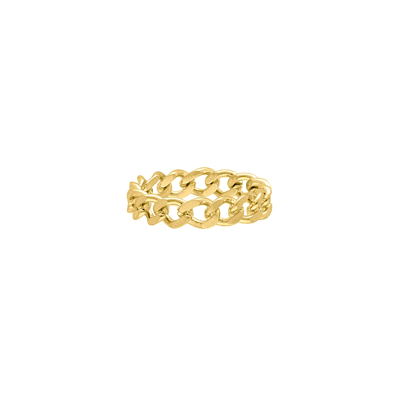 Ring Met Schakels Goud Kleurig