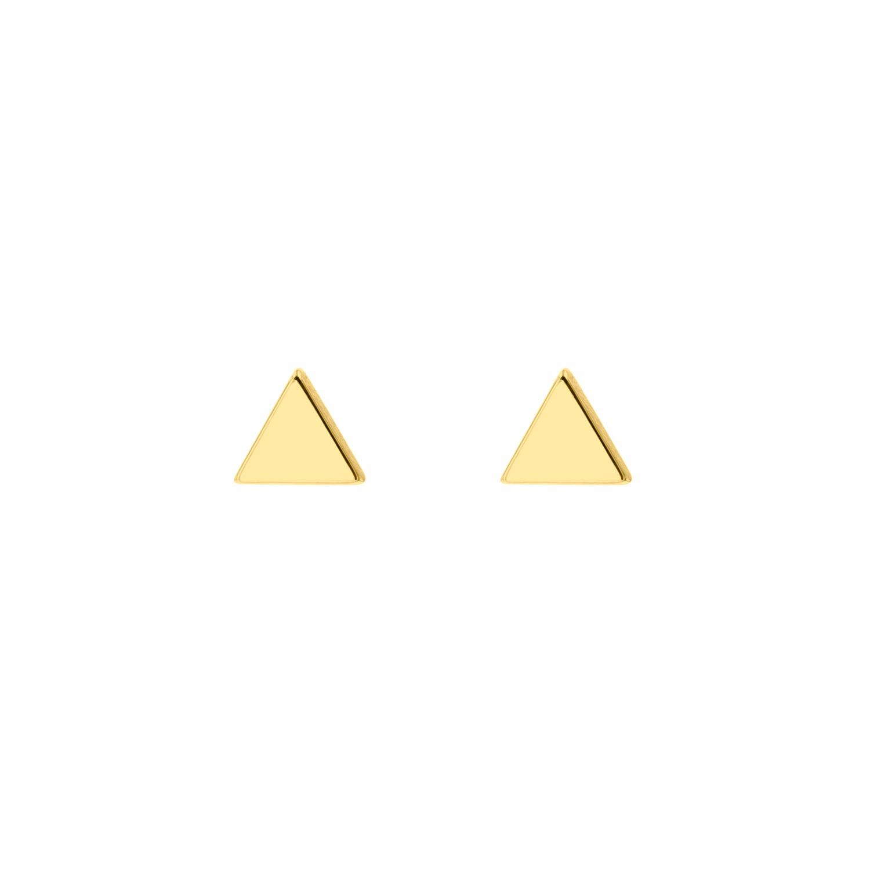Gouden driehoek stud oorbellen