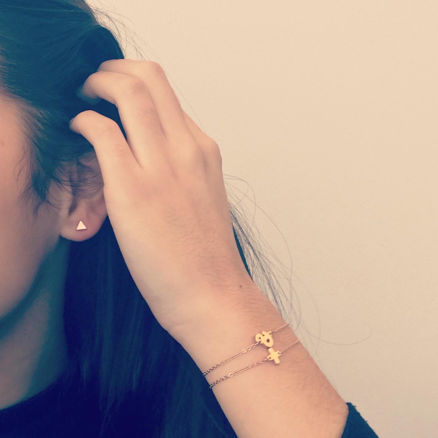 Rose gouden armband & teken combineren