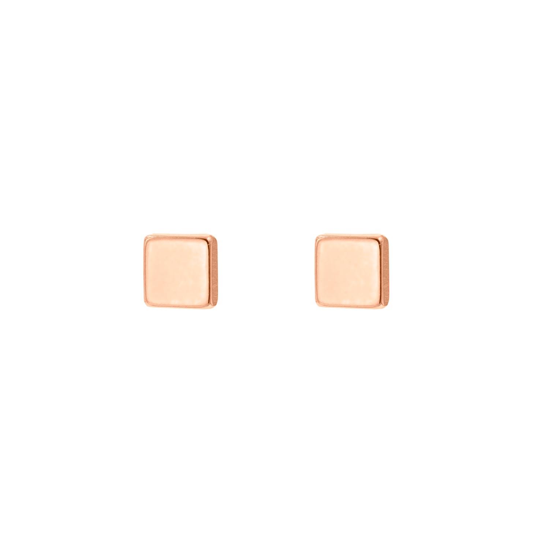 Rose gouden vierkante stud oorbellen