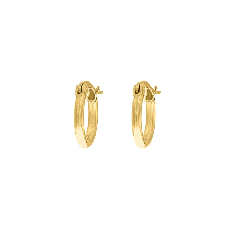 Gouden minimalistische oorringetjes