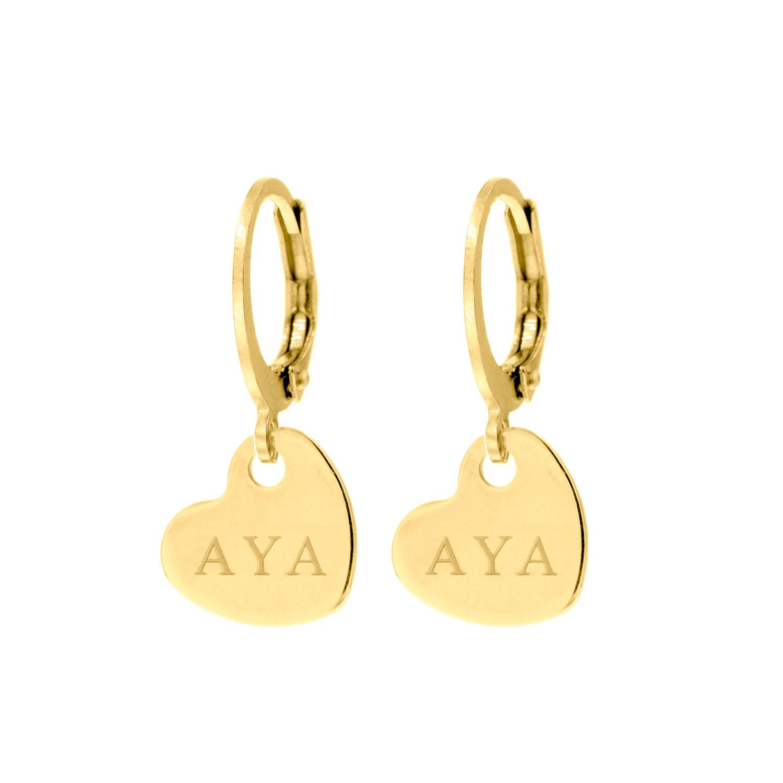Graveerbare gouden hartjes oorbellen