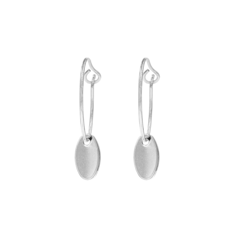 Zilveren oorbellen graveerbaar met muntje