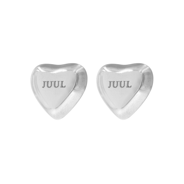 Zilveren graveerbare hart oorbellen