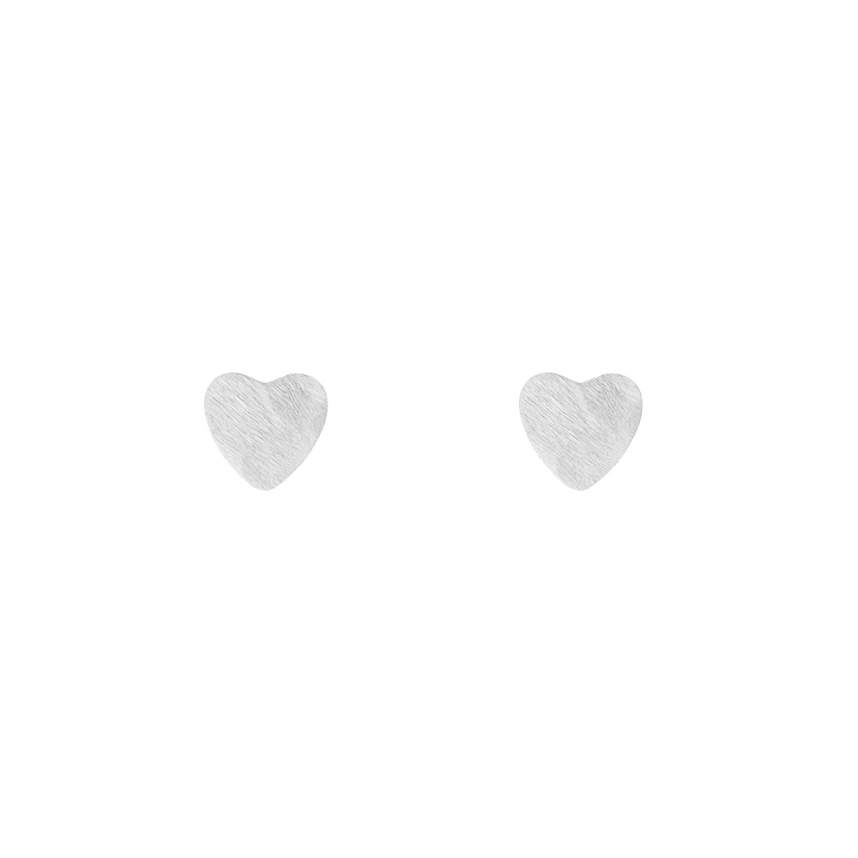 Zilveren hartjes stud oorbellen