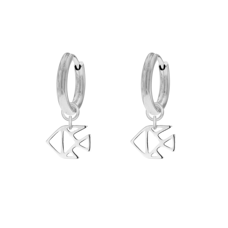 Sterrenbeeld Oorbellen Vissen Zilver