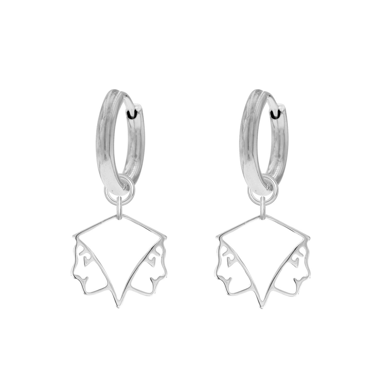 Sterrenbeeld Oorbellen Tweeling Zilver