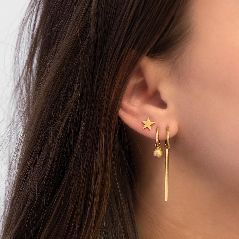 leuke gouden stud oorbellen met een ster stud oorbel