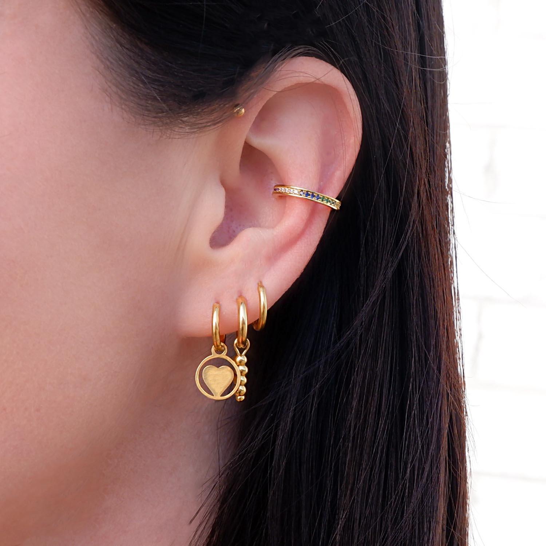 regenboog earcuff voor de leuke earparty