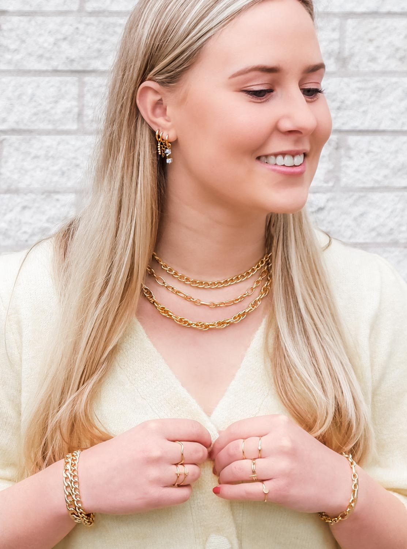 Trendy gouden sieraden voor een trendy look om te kopen
