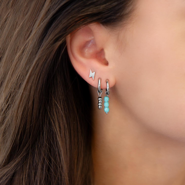 Trendy oorbellen met bliksem oorstuds om te kopen