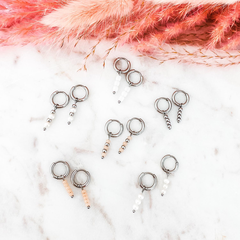 Zilveren oorbellen voor een trendy look om te kopen