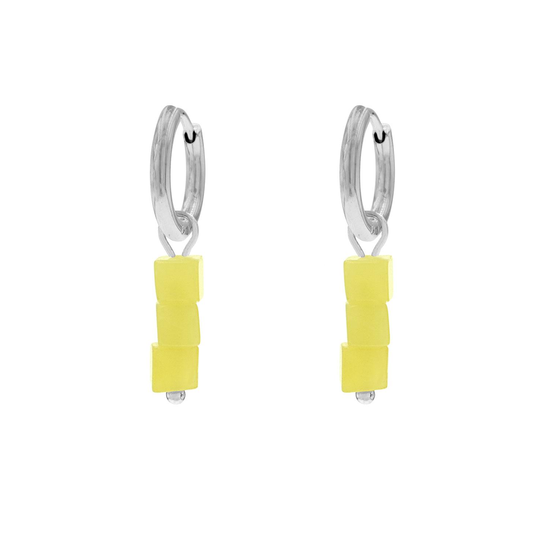 Oorbellen gele steentjes