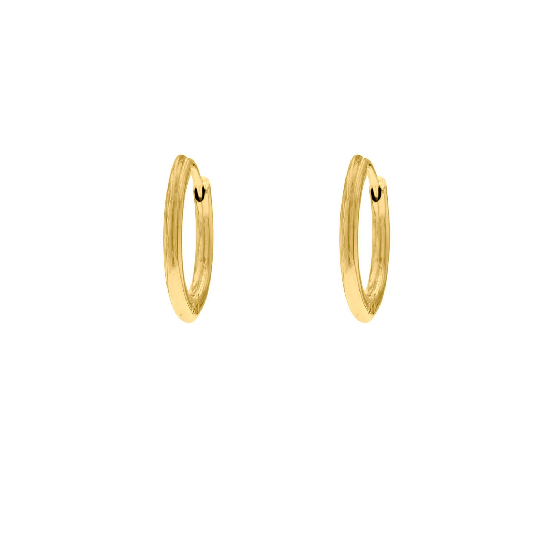 Basis oorringetjes groot goudkleurig