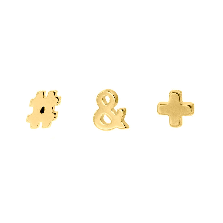 Gouden stud oorbellen set