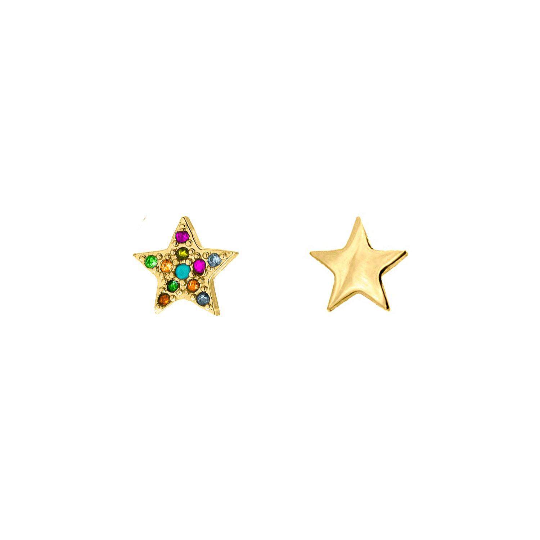 Oorbellen set met sterretjes goud